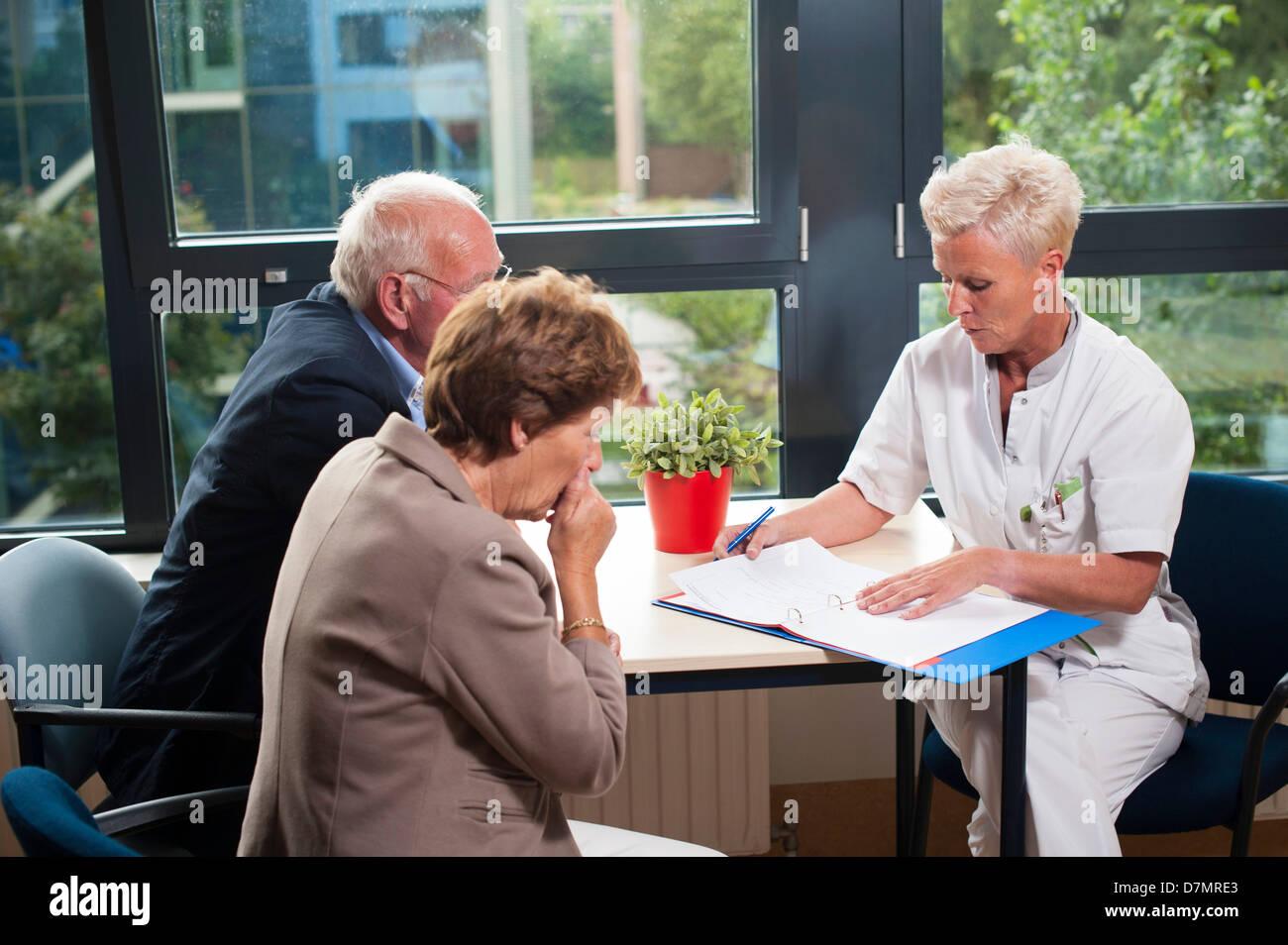 Hospital consultation - Stock Image