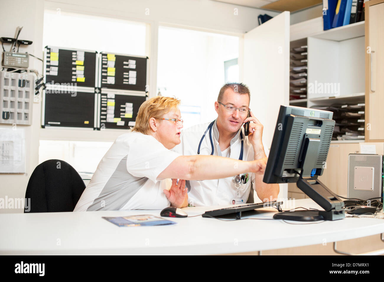 Hospital nurses - Stock Image