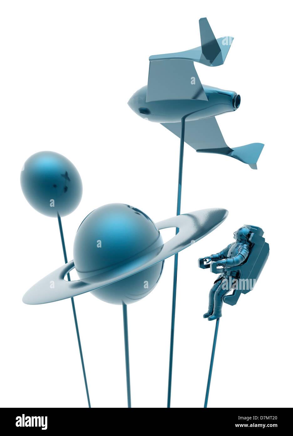 Space tourism, conceptual artwork - Stock Image