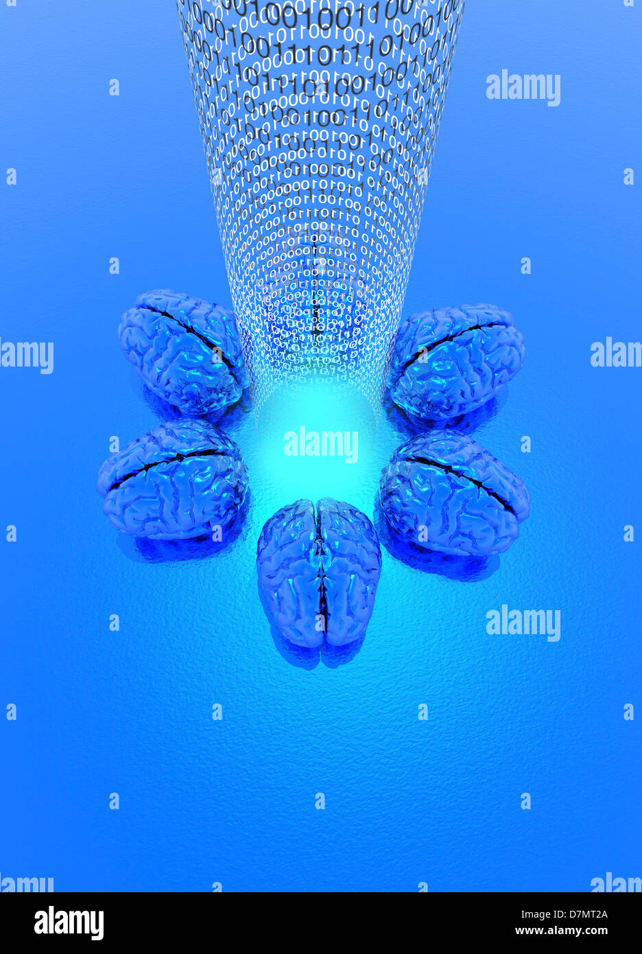 Brain mapping, conceptual artwork - Stock Image