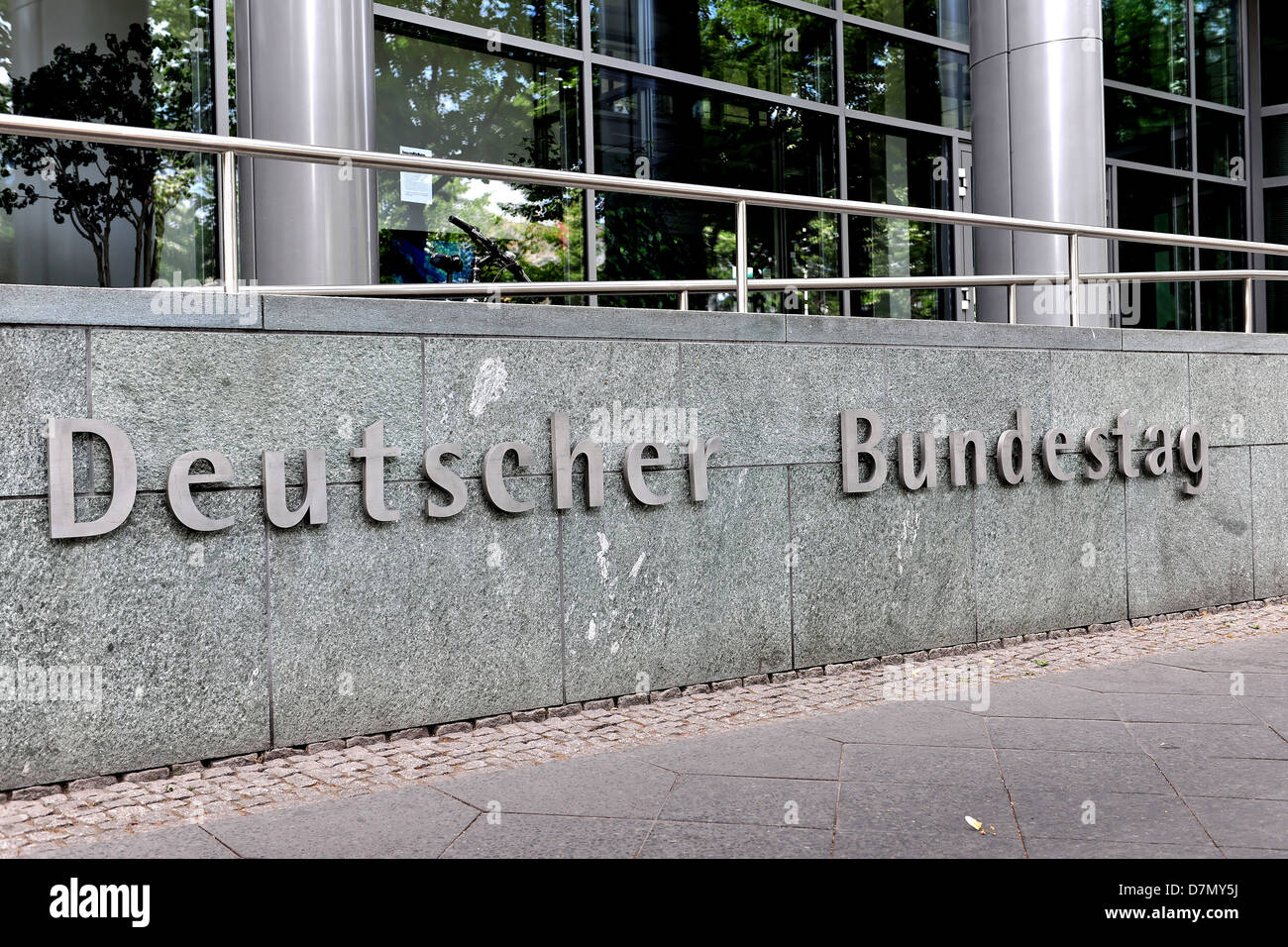 German Bundestag in Berlin - Stock Image