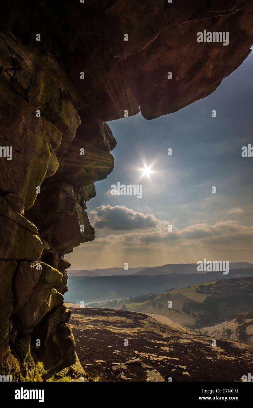 Win Lee Tor, Peak District in the Derwent Valley - Stock Image