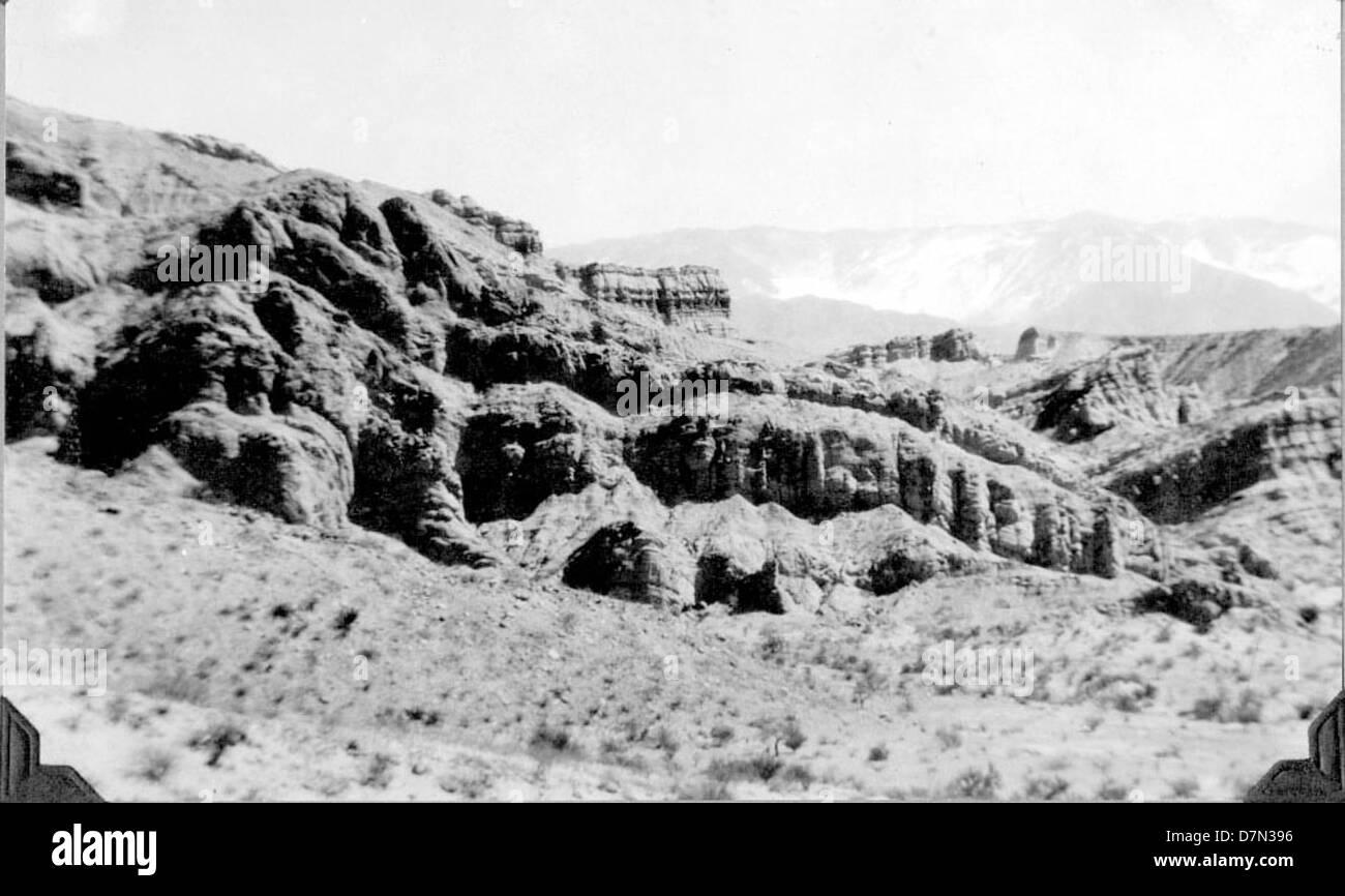Sandstone ledges, Pliocene - Stock Image