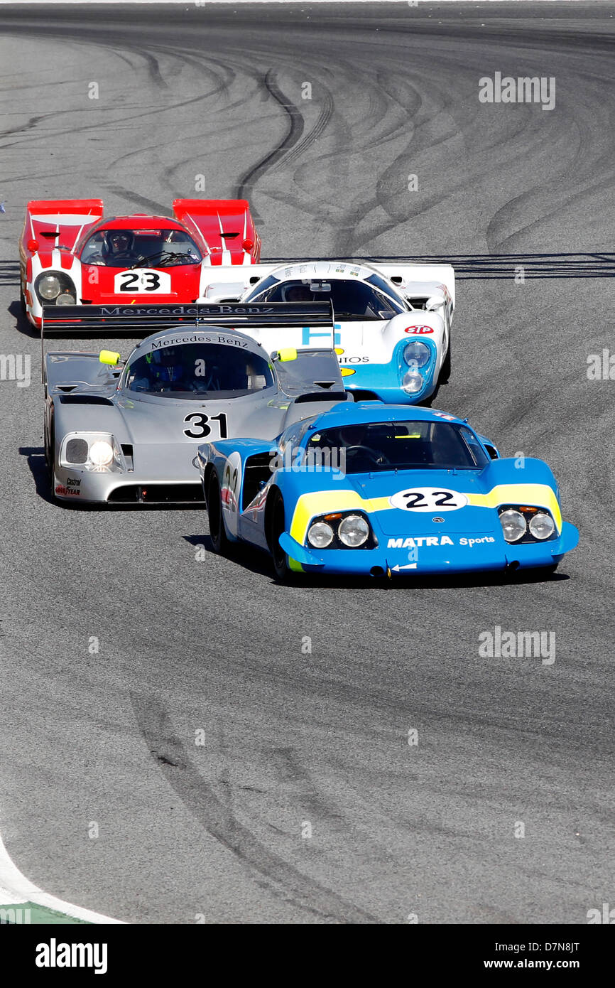Group C and Historic Sports Cars free practice at Barcelona Catalonia Classic Revival, Montmelo circuit, April 2013 - Stock Image