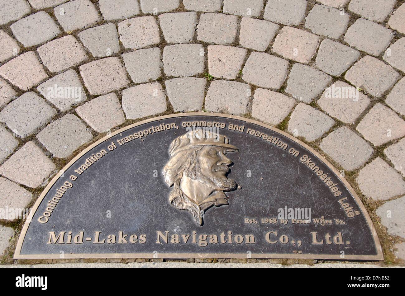 New York, Skaneateles. Skaneateles Lake, one of the Finger Lakes. Mid-Lakes Navigation Co. market. Stock Photo
