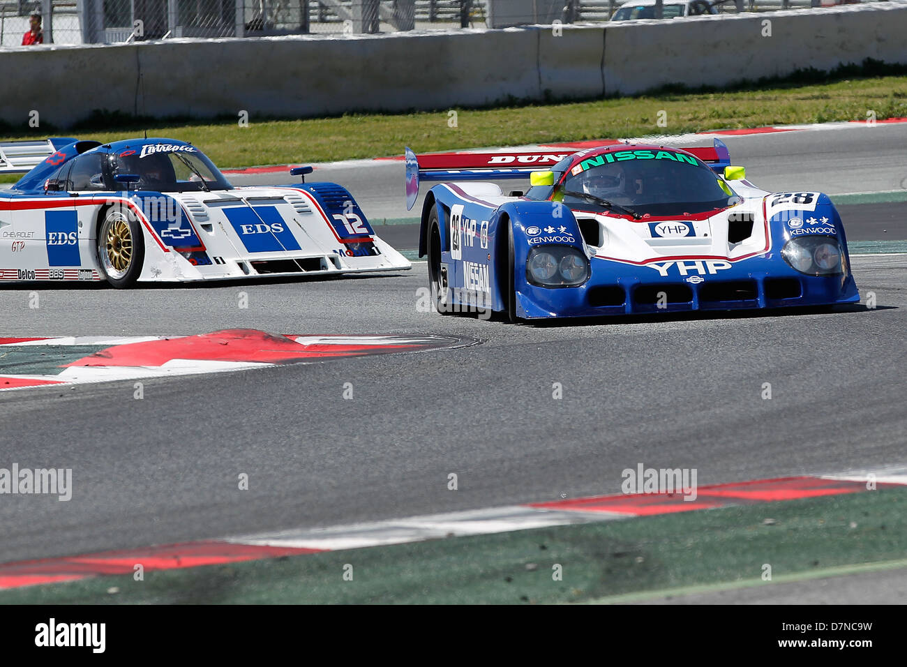 Group C race at Barcelona Catalonia Classic Revival, Montmelo circuit, April 2013, Kent Abrahamsson in Nissan R90 Stock Photo