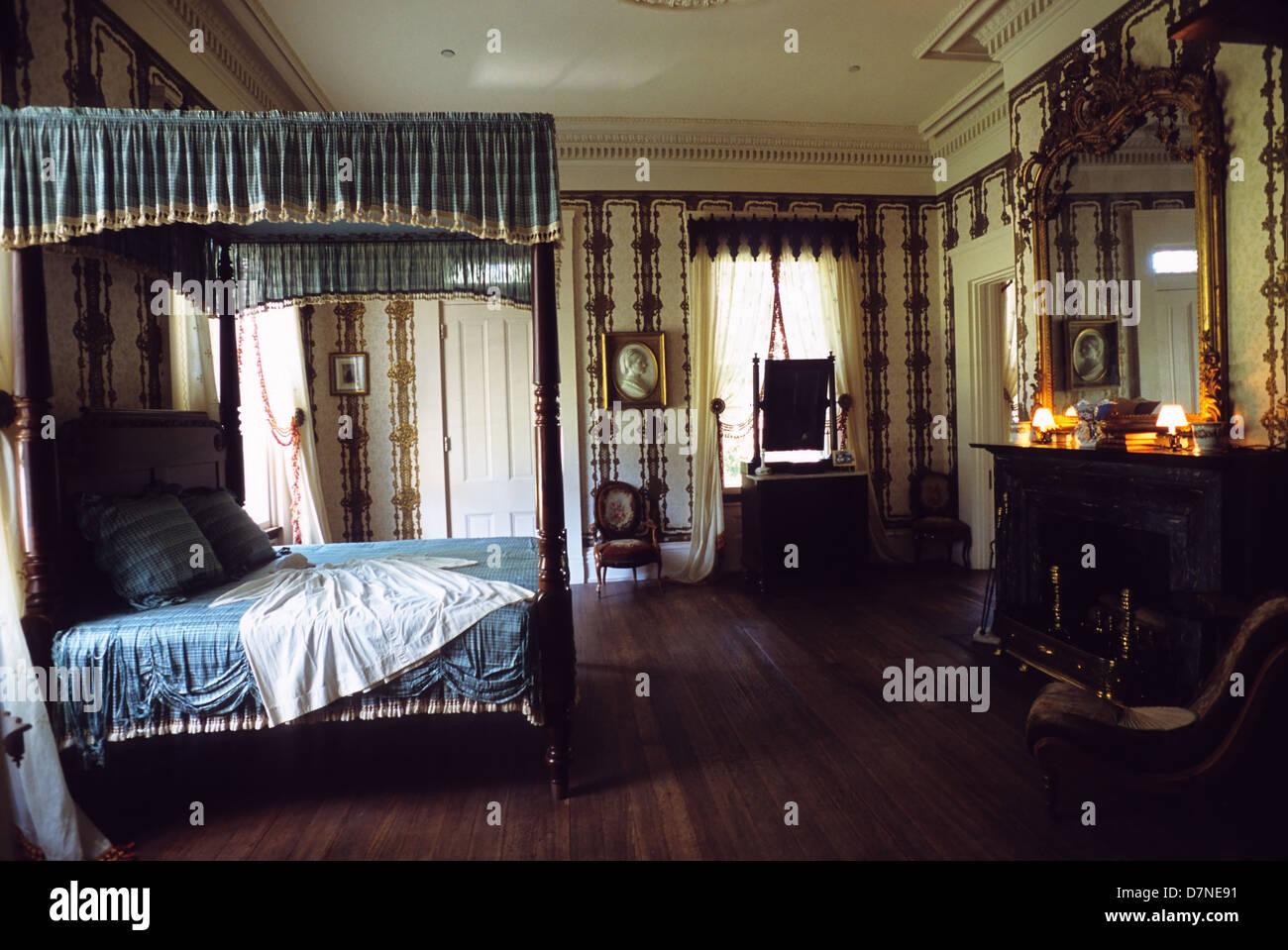 Elk283-3010 Louisiana, St Francisville, Rosedown Plantation State Historic Site, Mansion, 1836, bedroom - Stock Image