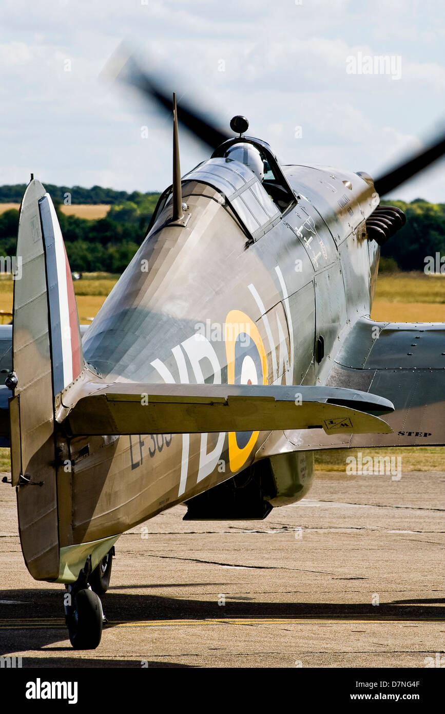 LF363 BBMF Hawker Hurricane Duxford IWM Flying Legends - Stock Image