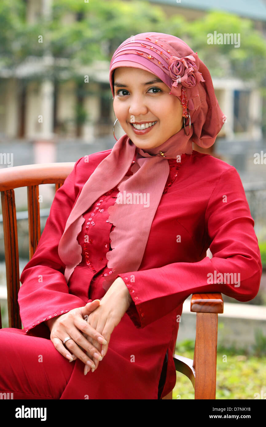 Portrait of Muslim business woman - Stock Image