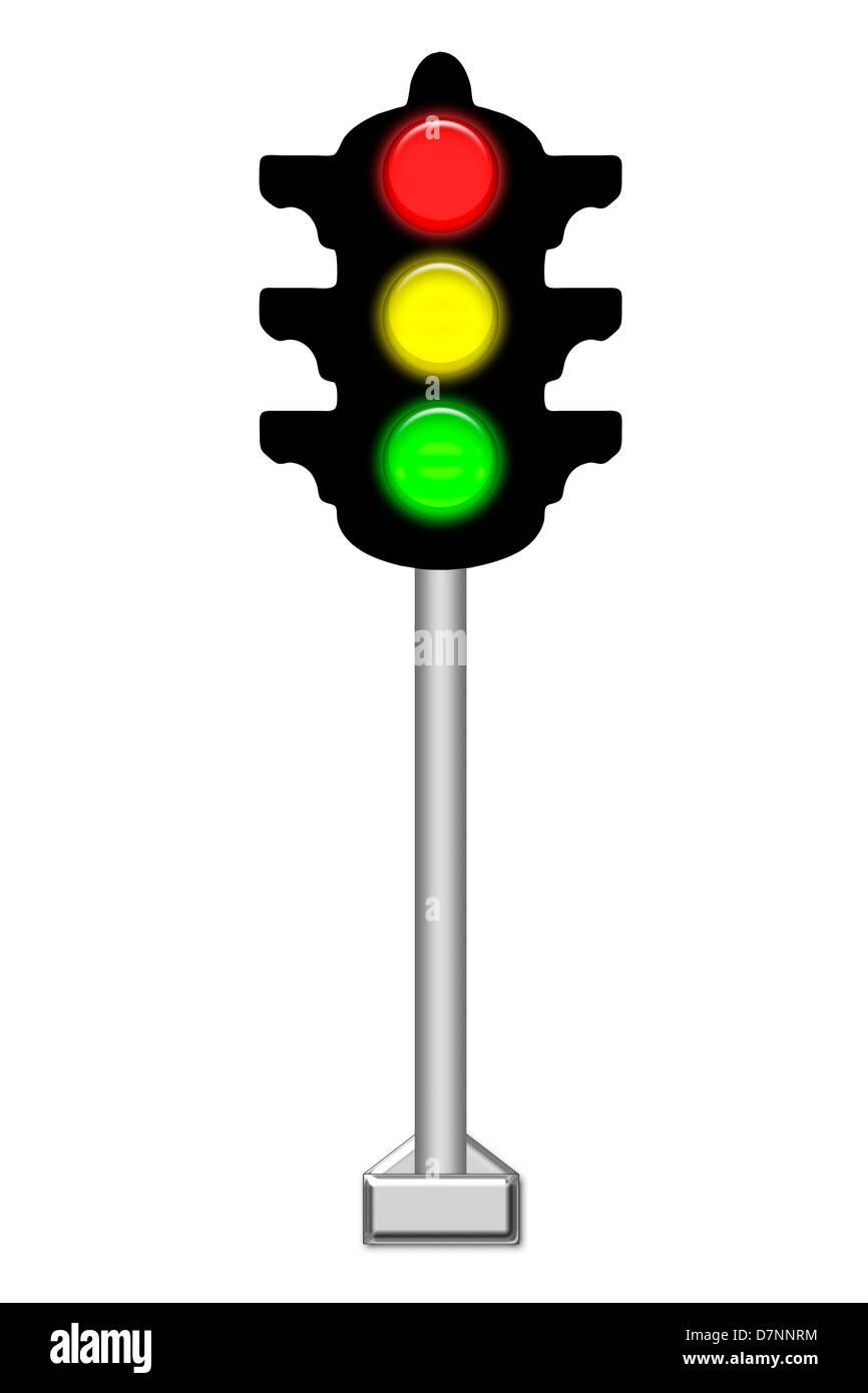 traffic light - Stock Image