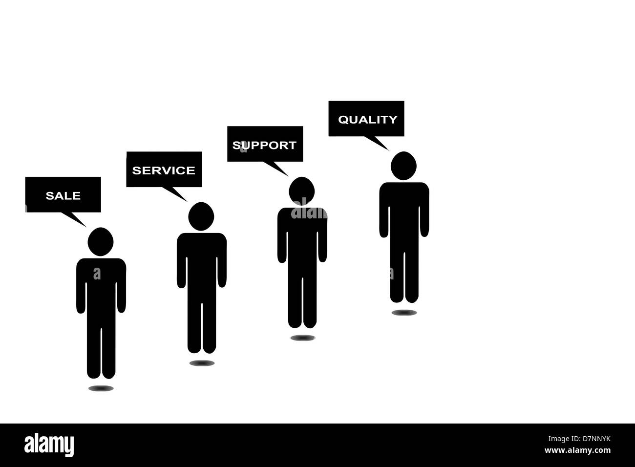 marketing symbol - Stock Image