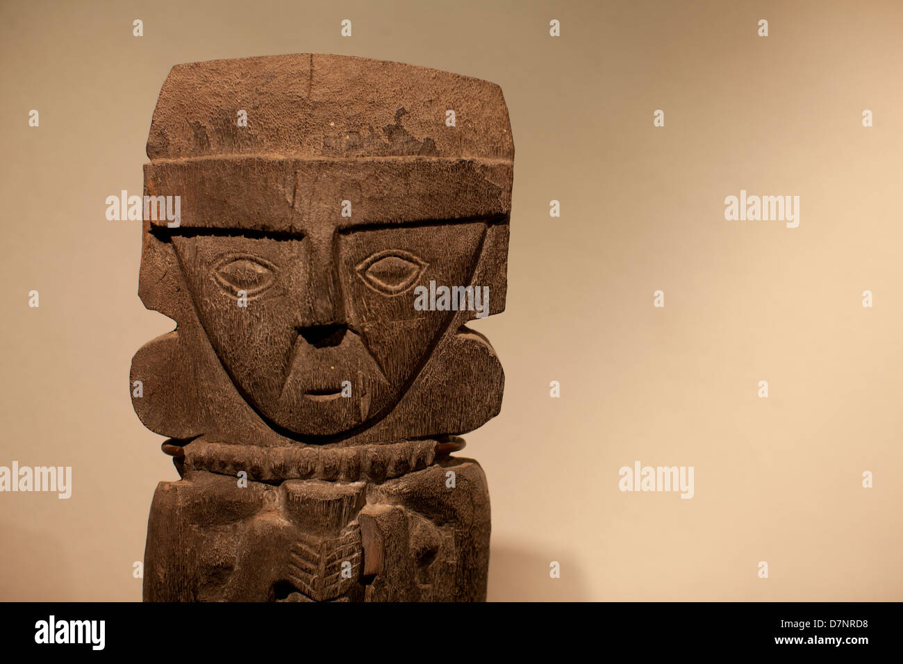 Peruvian wooden sculpture - Stock Image