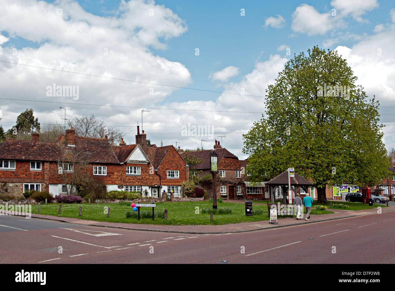 Brasted village green, Kent, UK - Stock Image
