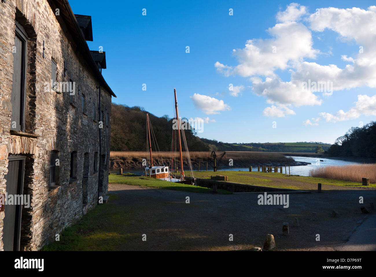 Cotehele Quay in the Tamar Valley in Cornwall. - Stock Image