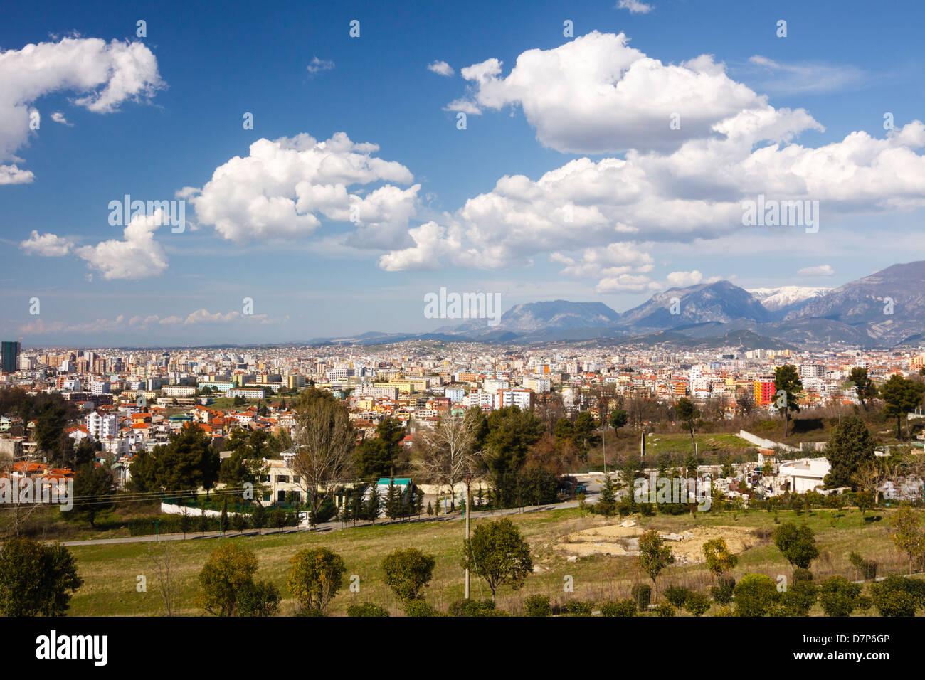 Tirana overview. Albania - Stock Image