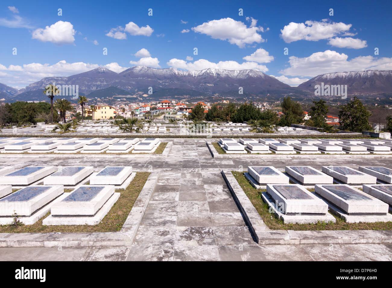 National Martyrs Cemetery. Tirana, Albania - Stock Image