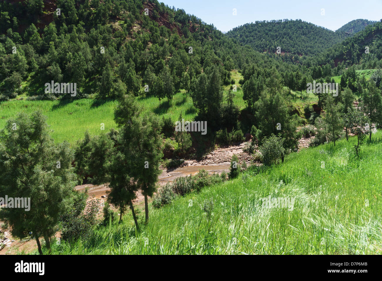 Morocco, Marrakesh - Ourika river valley, - Stock Image