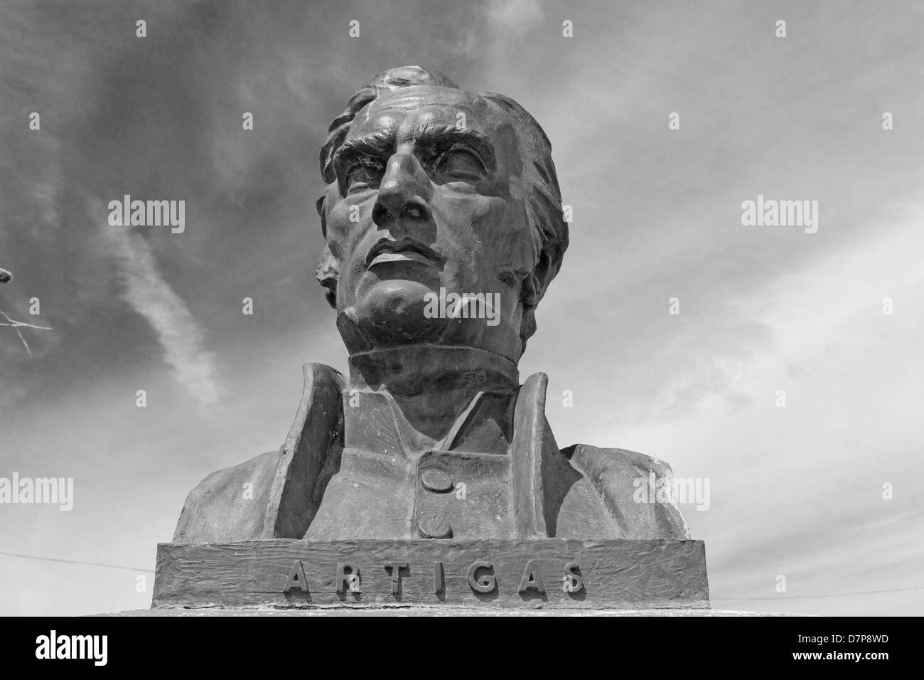 Statue of General Artigas, hero of the independence of the Republic of Uruguay. - Stock Image