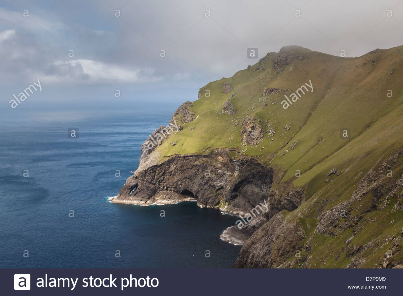Cliff of St Kilda - Stock Image