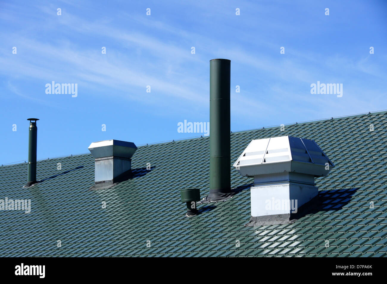 Ventilation Duct Roof Stock Photos & Ventilation Duct Roof Stock ...