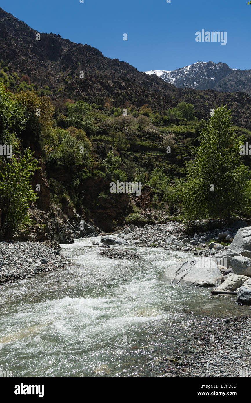 Morocco, Marrakesh - the Ourika Valley in the Southern Atlas mountains. - Stock Image