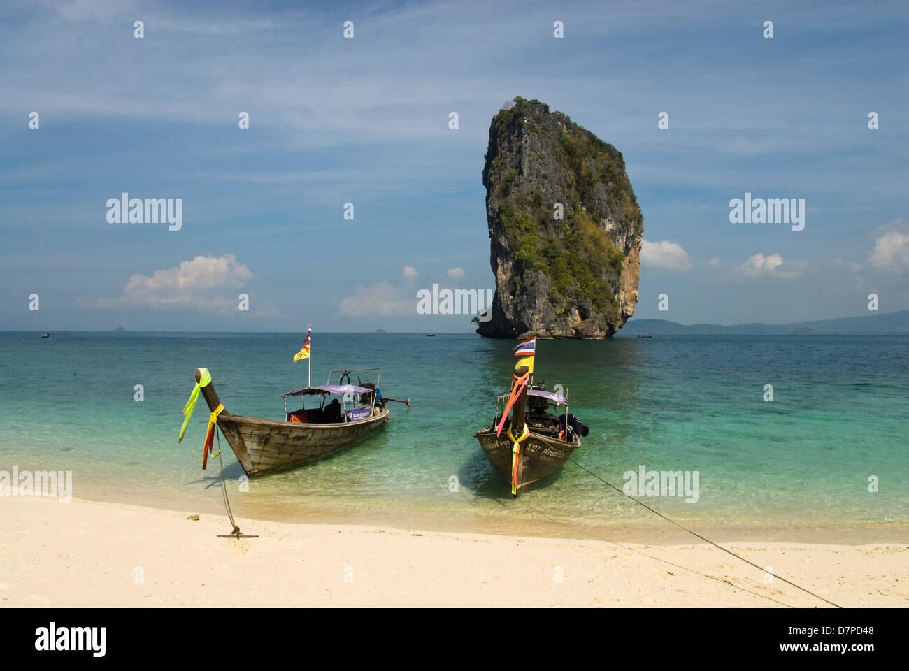 Poda island in Thailand, Thailaendische Insel Poda Island Stock Photo