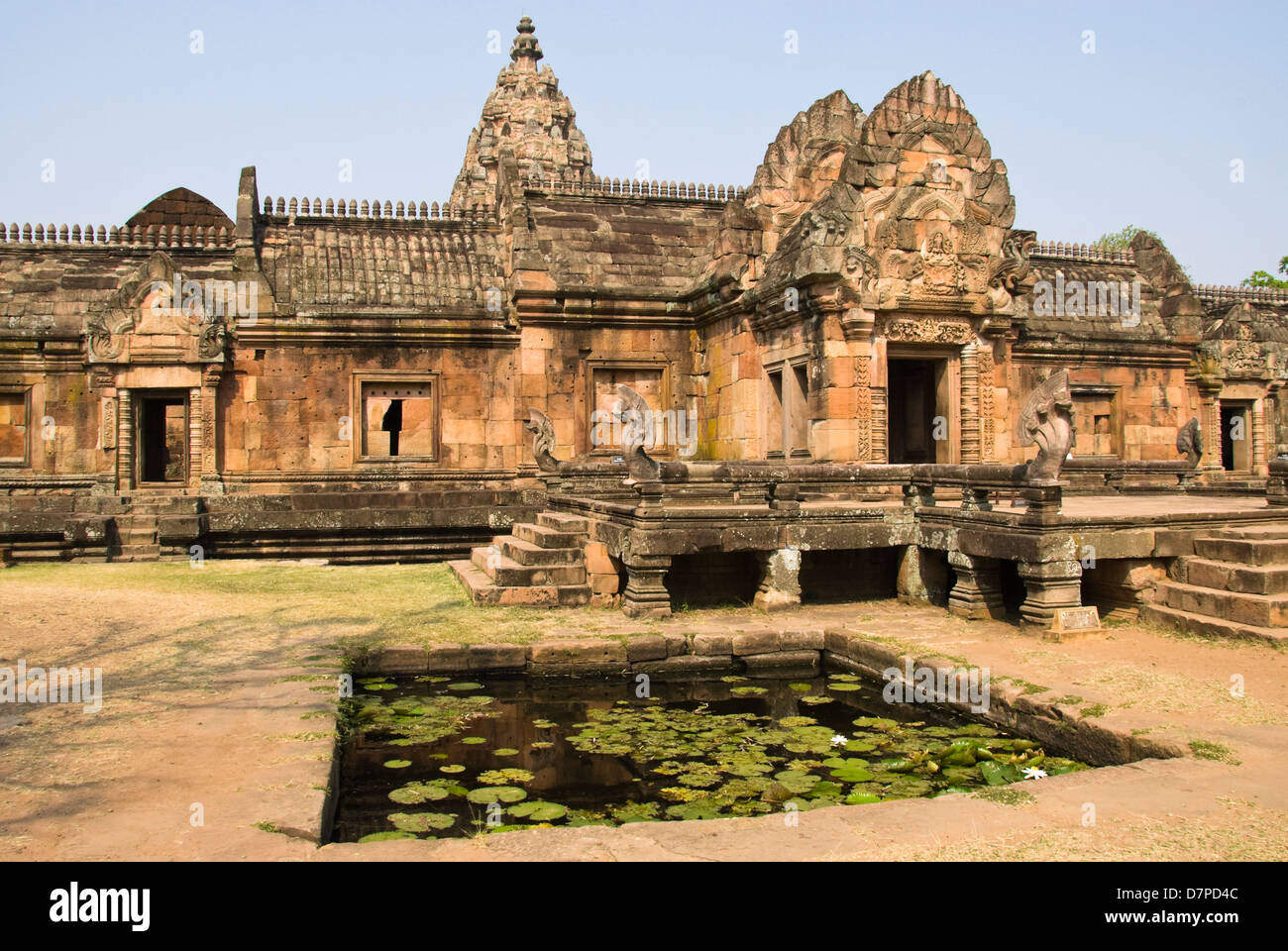 Wat Prasat Muang Tam, Palace of the lower city, Palast der unteren Stadt, - Stock Image
