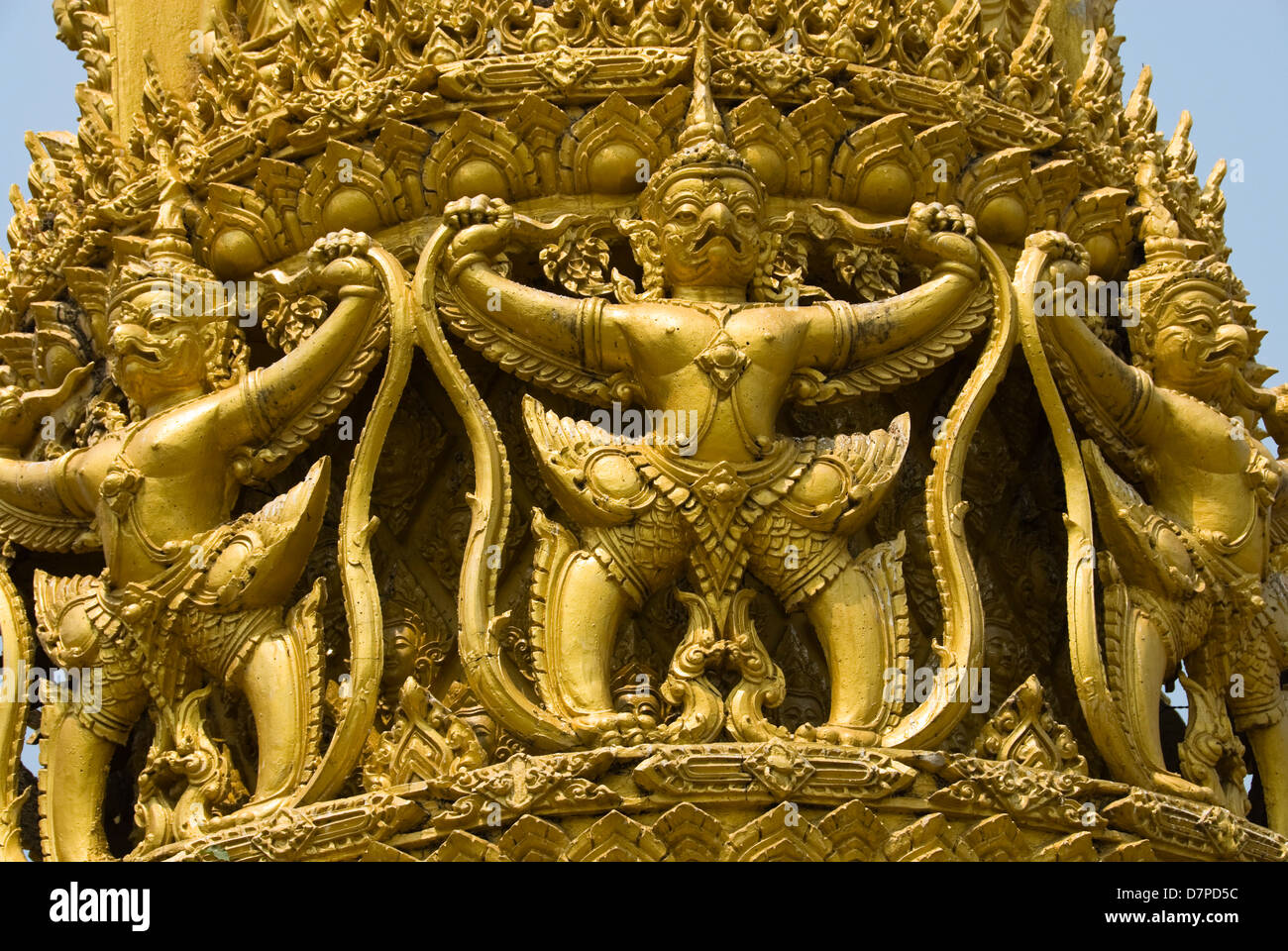 wax sculpture, Wachsskulptur Thien Pansa Ubon Stock Photo