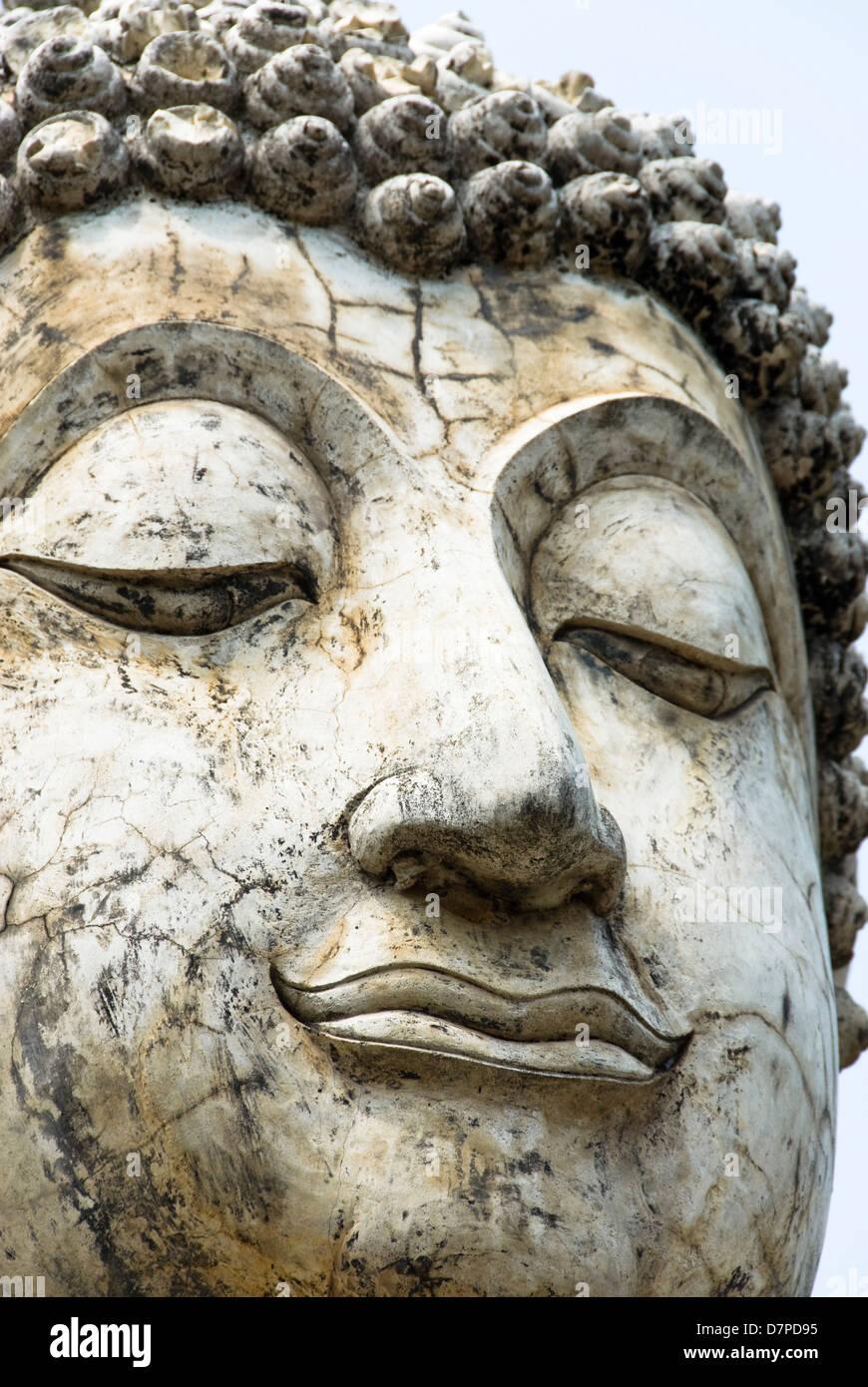 Buddha face, Sukhothai Buddhaanlitz Stock Photo