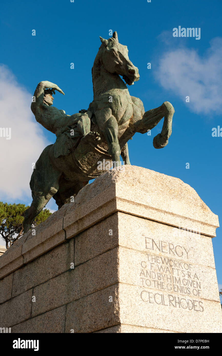 George Frederick Watt's statue Energy at the Rhodes memorial, Cape Town, South Africa - Stock Image