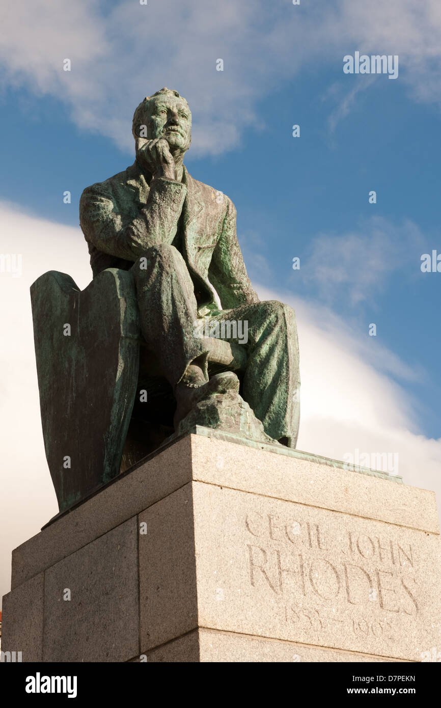 Statue of CJ Rhodes at UCT, University of Cape Town, South Africa - Stock Image
