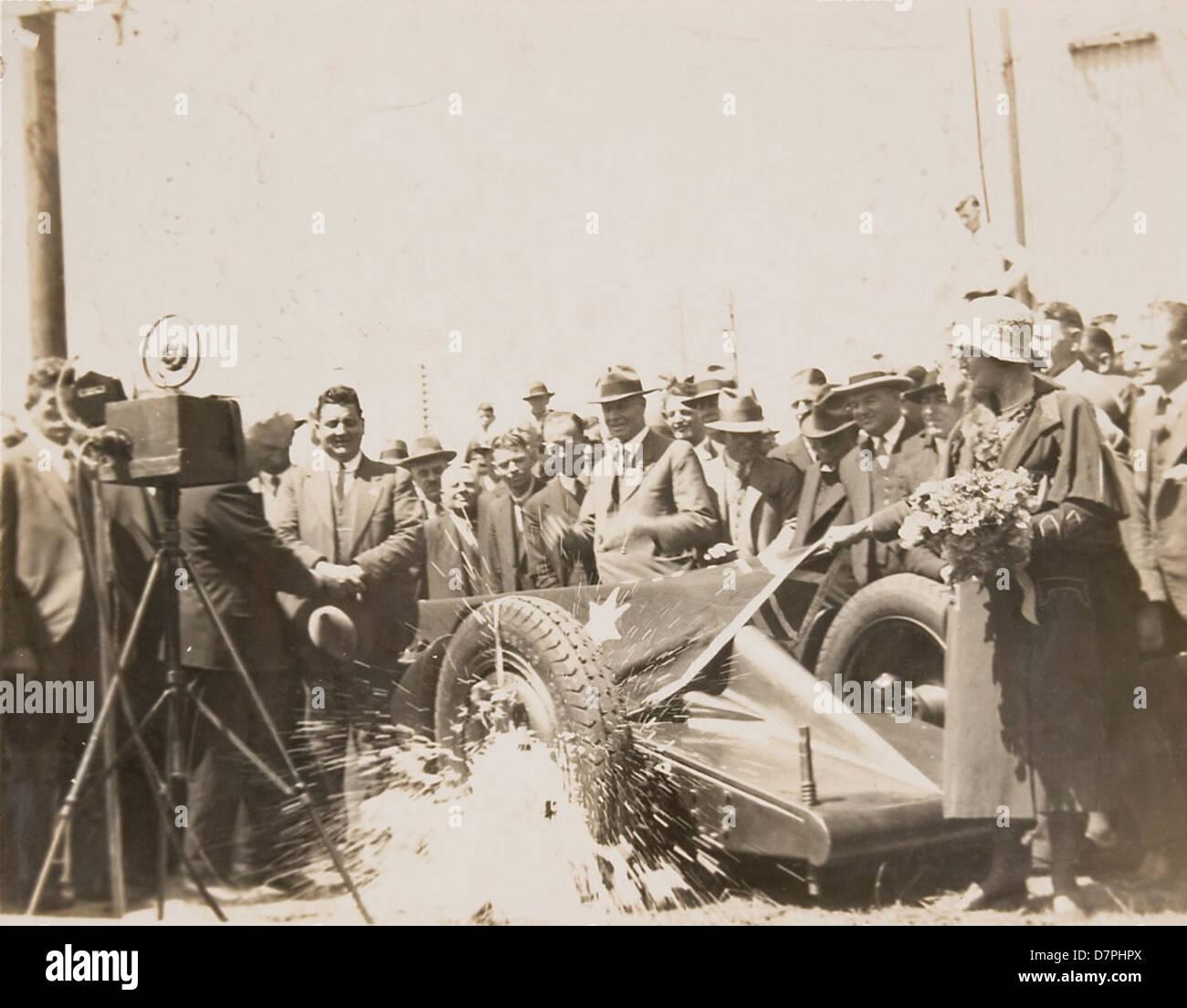 Launch of car 'F.H. Stewart Enterprise', 1926 - 1936 - Stock Image
