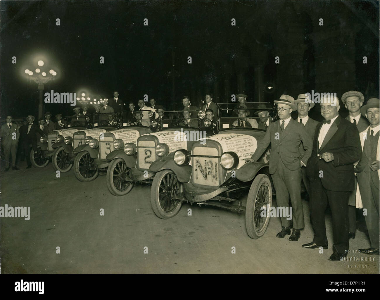 Cars At The End Of 1000 Mile Rally Organised By Overland Company 1927