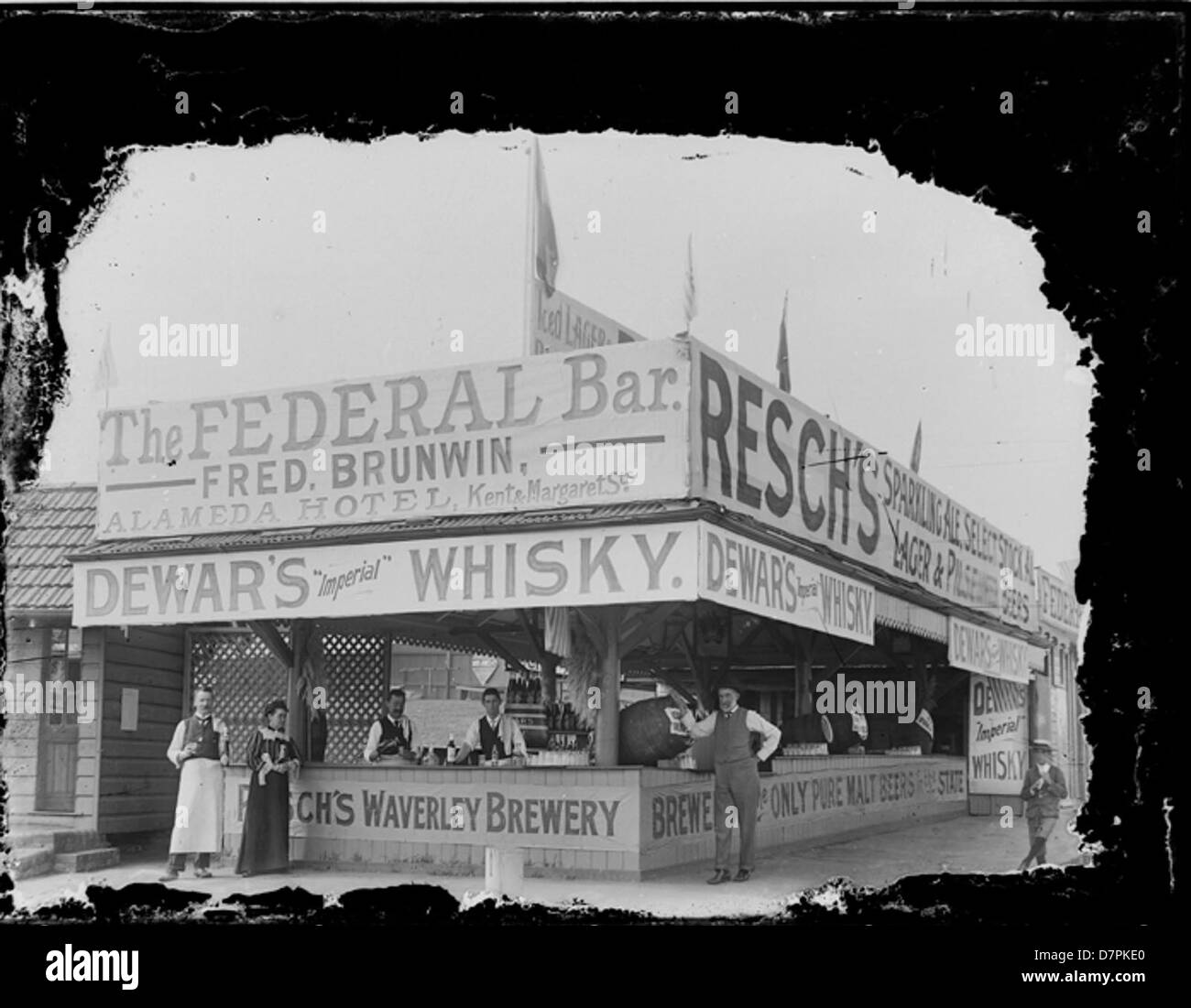 Federal Bar run by Fred Brunwin of the Alamada Hotel - Stock Image