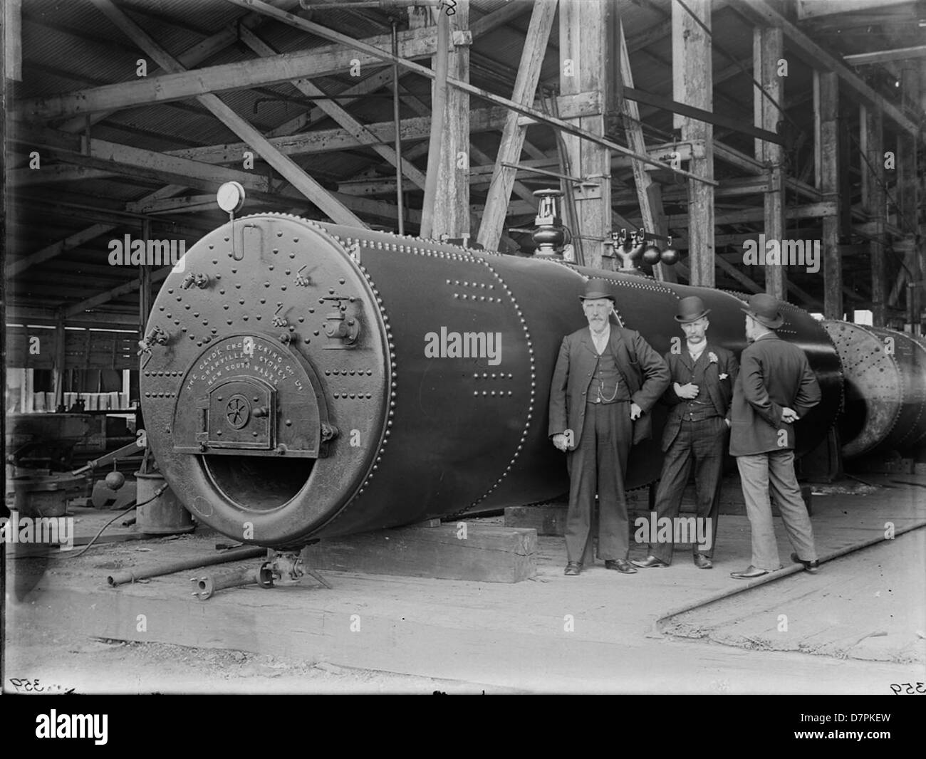 Staff with Cornish boilers - Stock Image