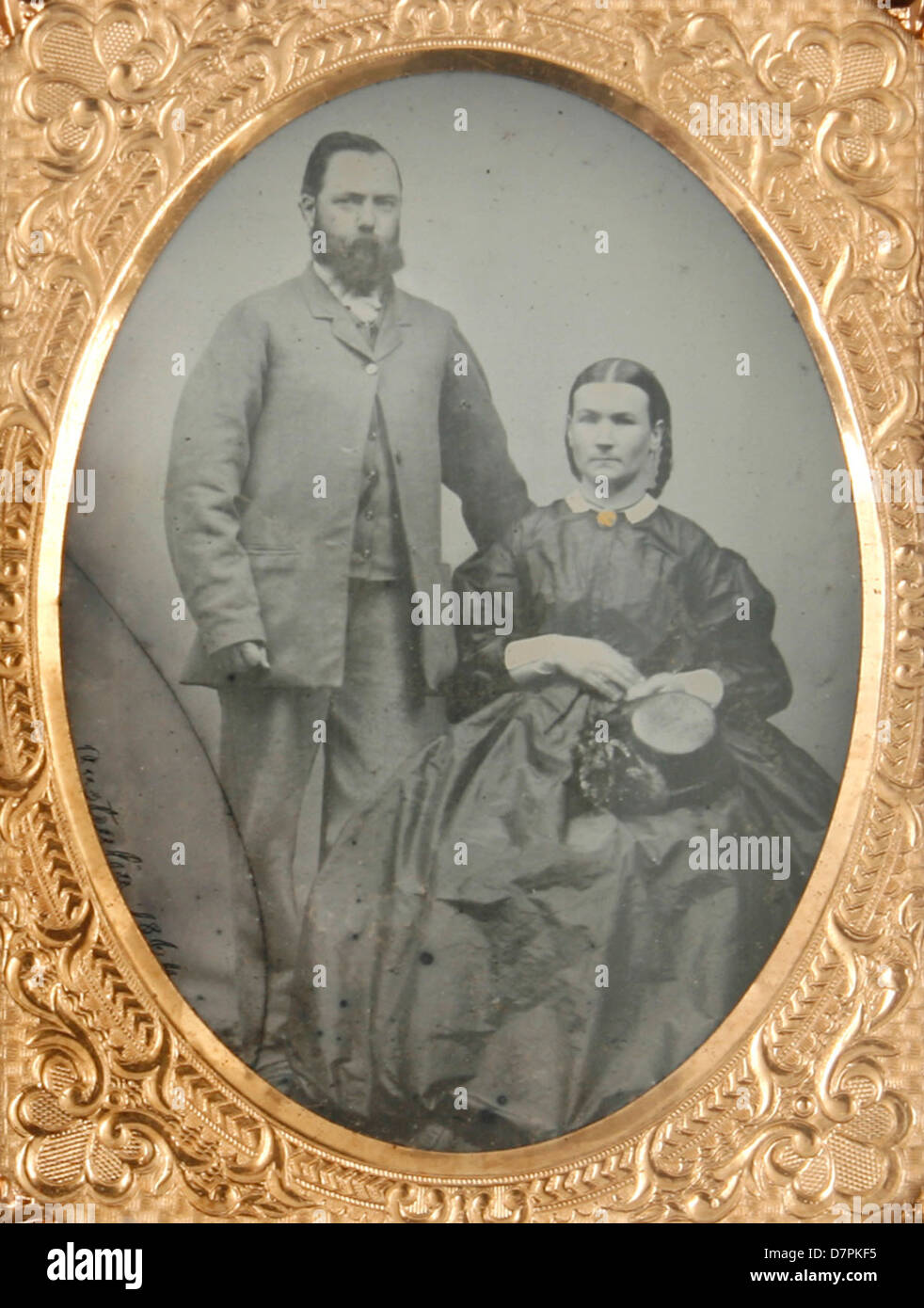 Unidentified man and woman - Stock Image