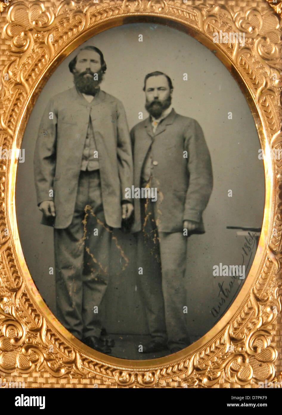 Unidentified men - Stock Image