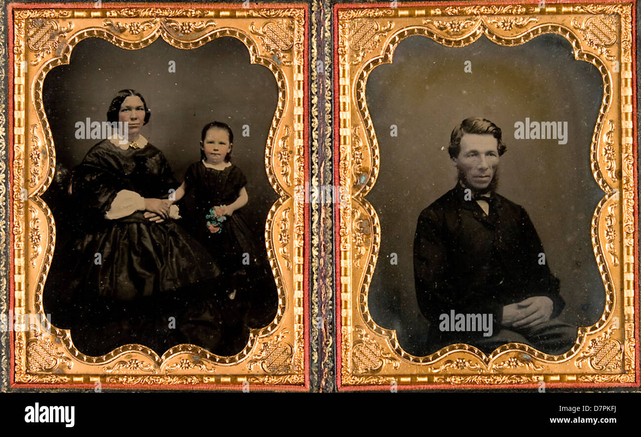 Unidentified family - Stock Image