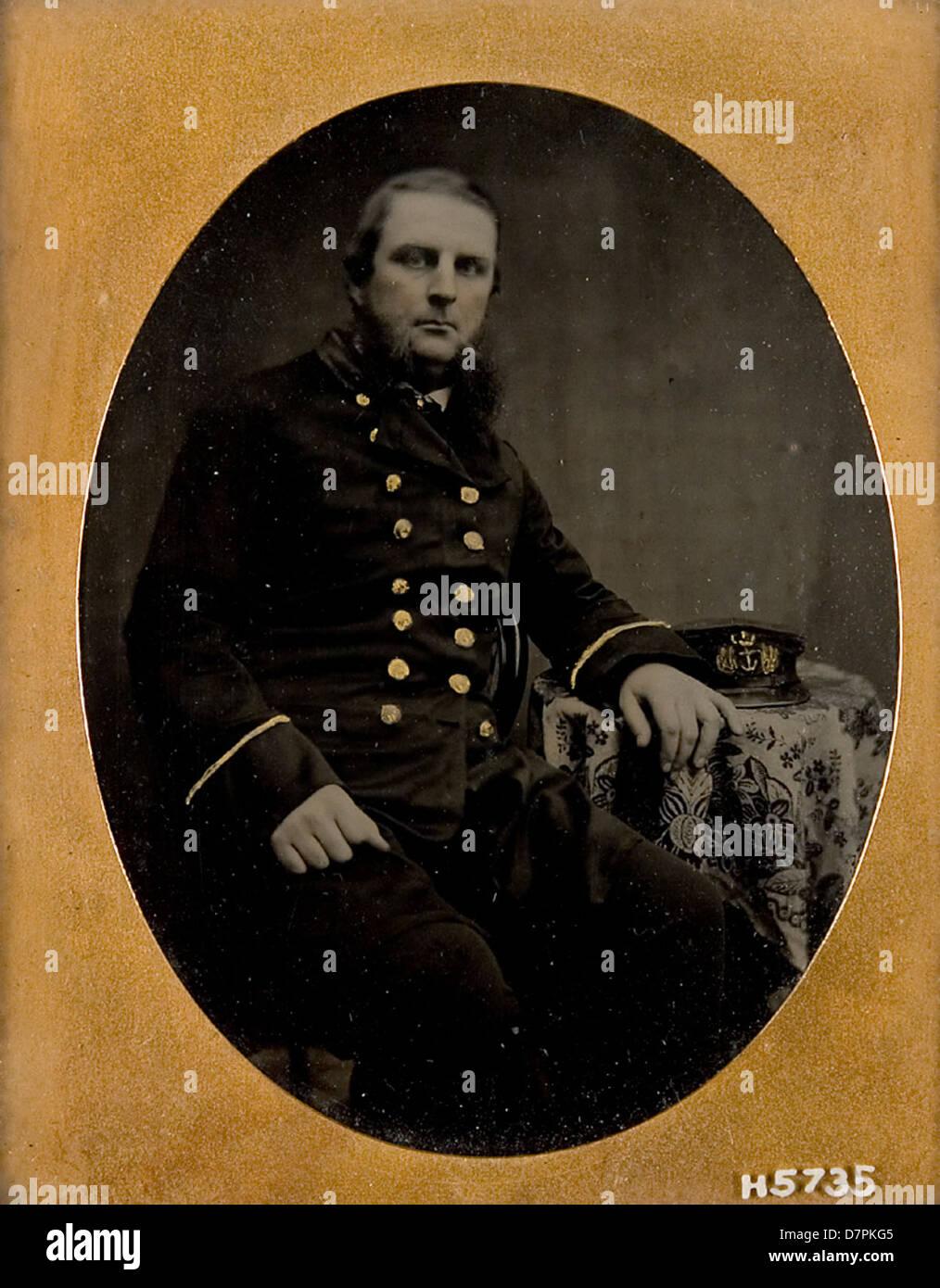 Unidentified Royal Navy Lieutenant or Sub-Lieutenant - Stock Image