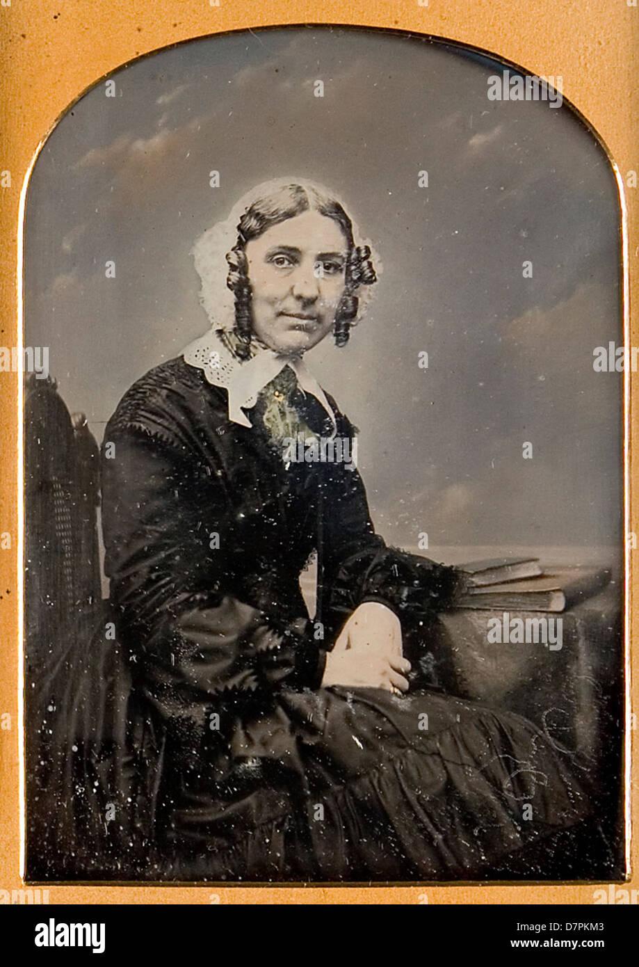Unidentified woman - Stock Image