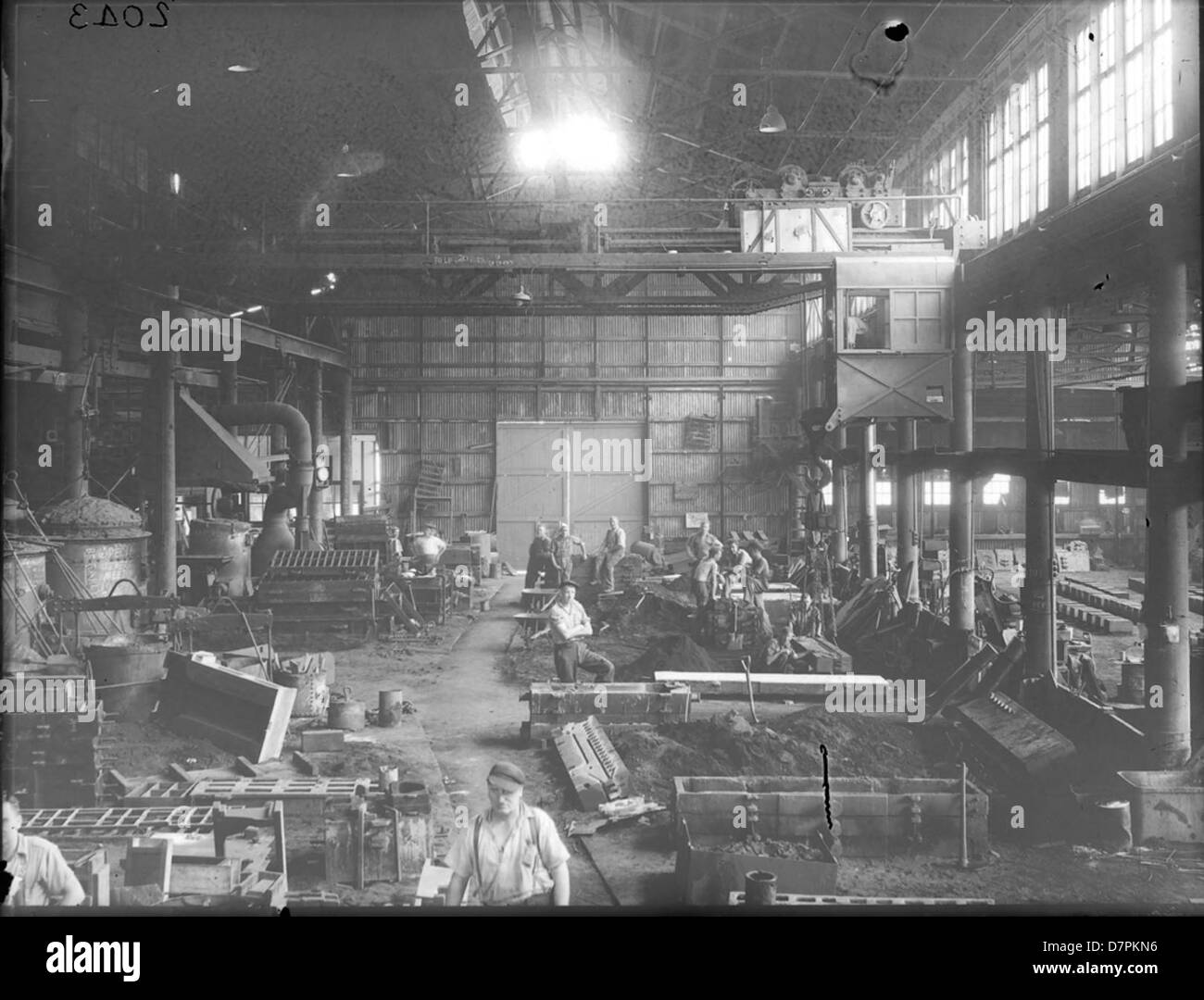 Iron Foundry at Clyde Works - Stock Image