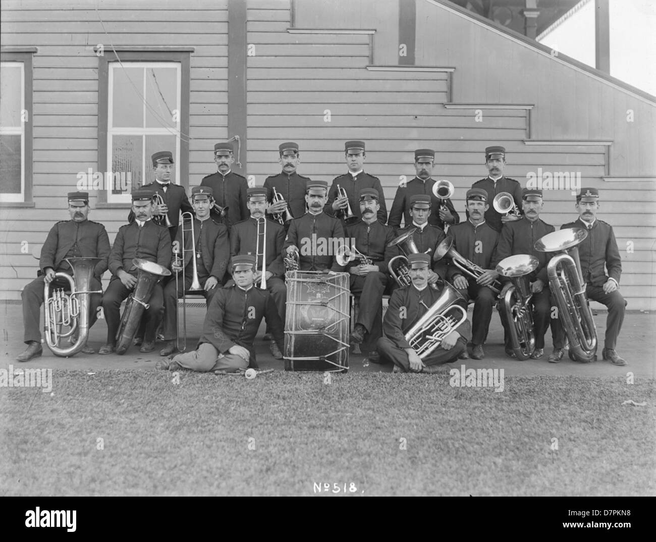 Clyde Works Brass Band - Stock Image