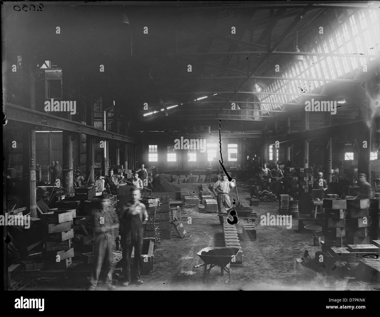 Clyde foundry with workmen - Stock Image