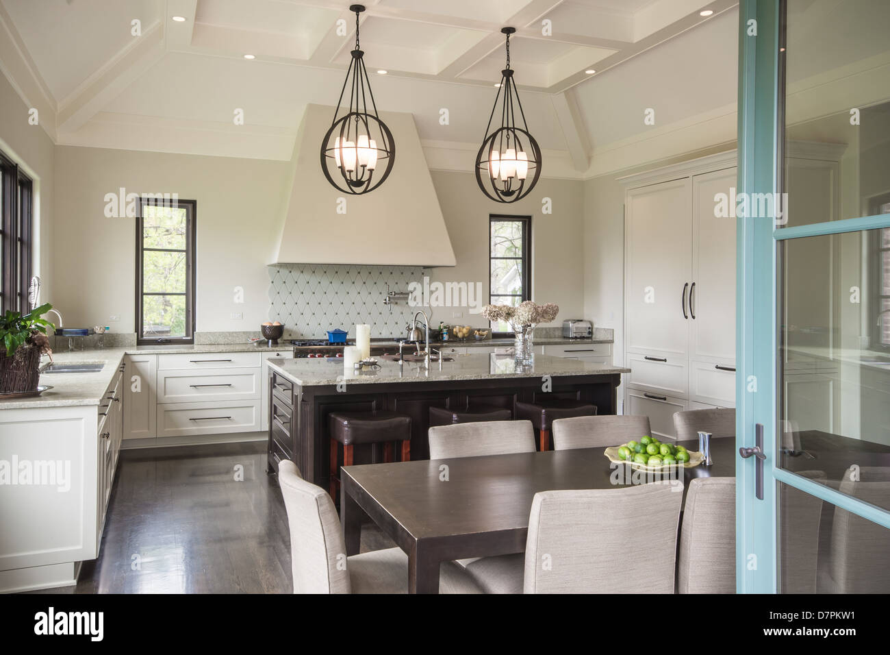 Modern Italian Kitchen - Stock Image