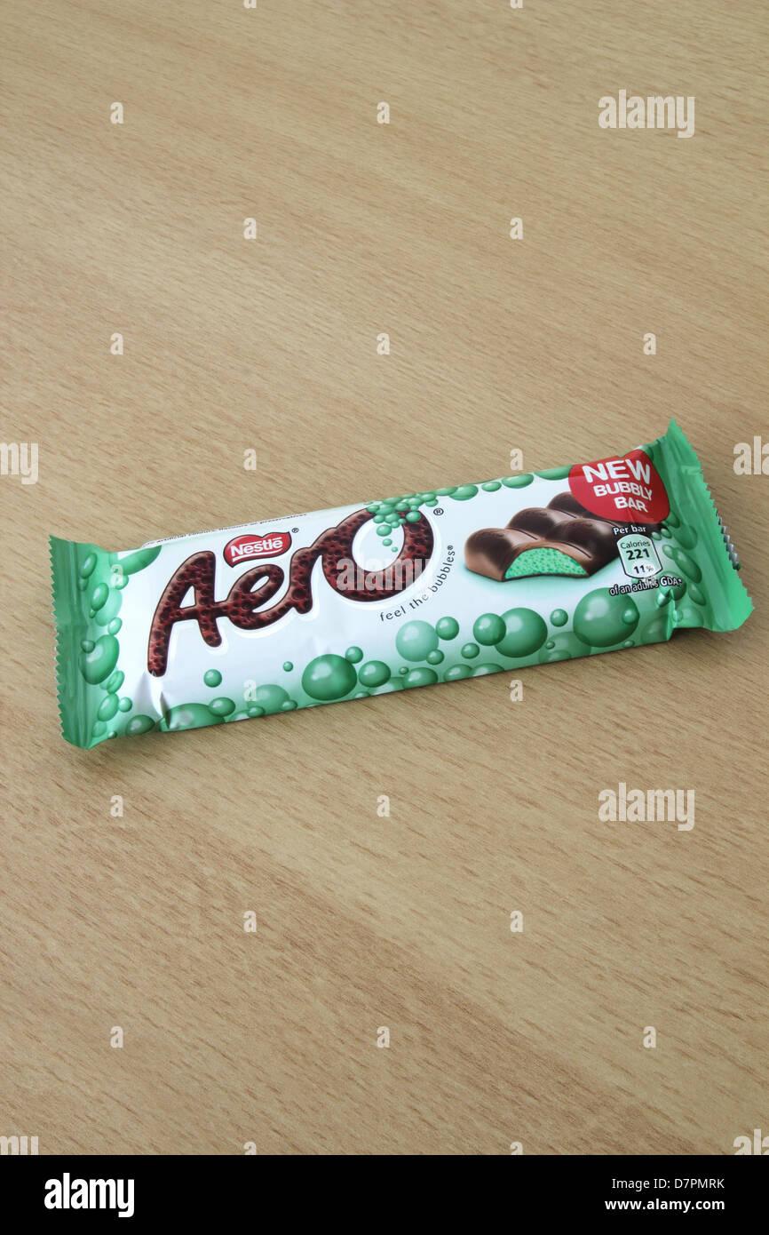 Nestle Aero Mint Chocolate Bar - Stock Image
