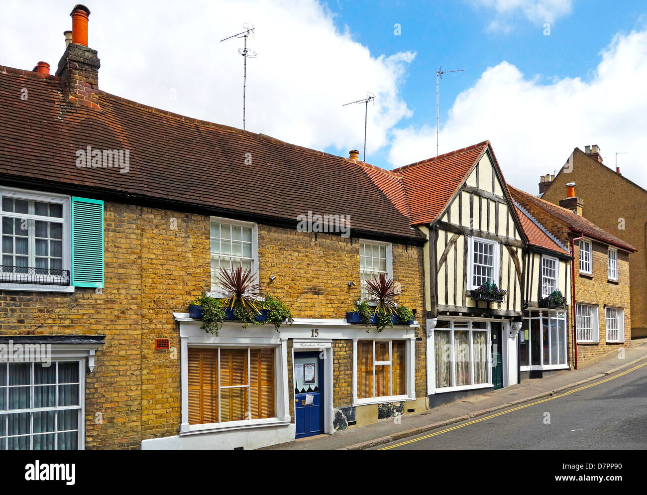 Cottages, Harrow on the Hill, London, UK - Stock Image