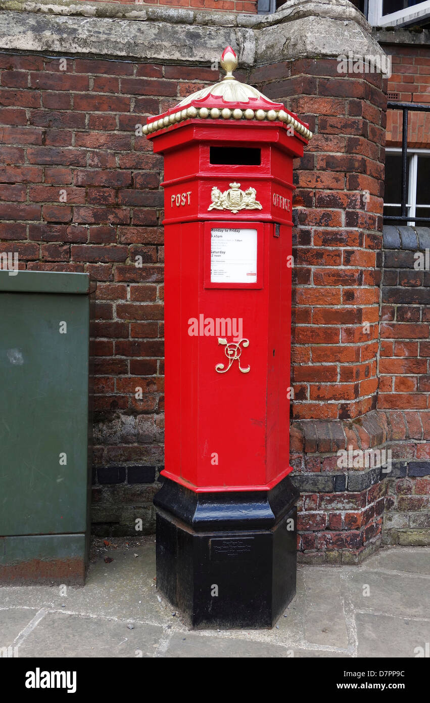 A Victorian postbox in Harrow on the Hill, London, UK - Stock Image