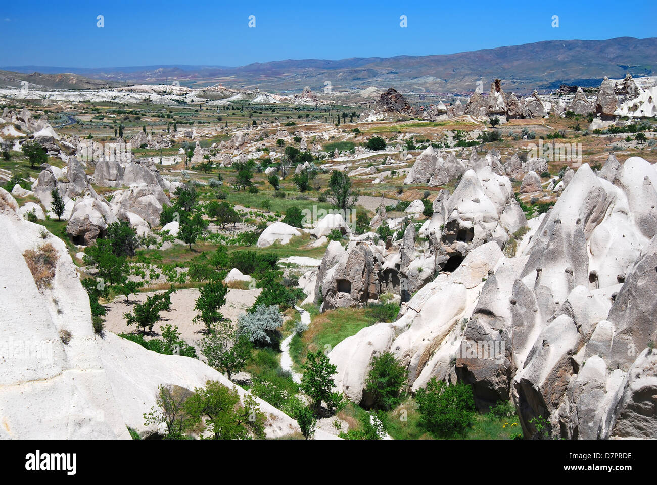 Kiliklar valley is near Goreme Open Air Museum, one of the most interesting places from Cappadocia. - Stock Image