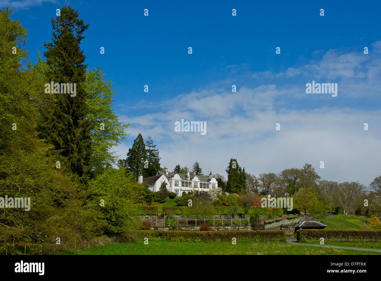 Brockhole, the visitor centre for the Lake District National Park, on the shores of Lake Windermere, Cumbria, England - Stock Image