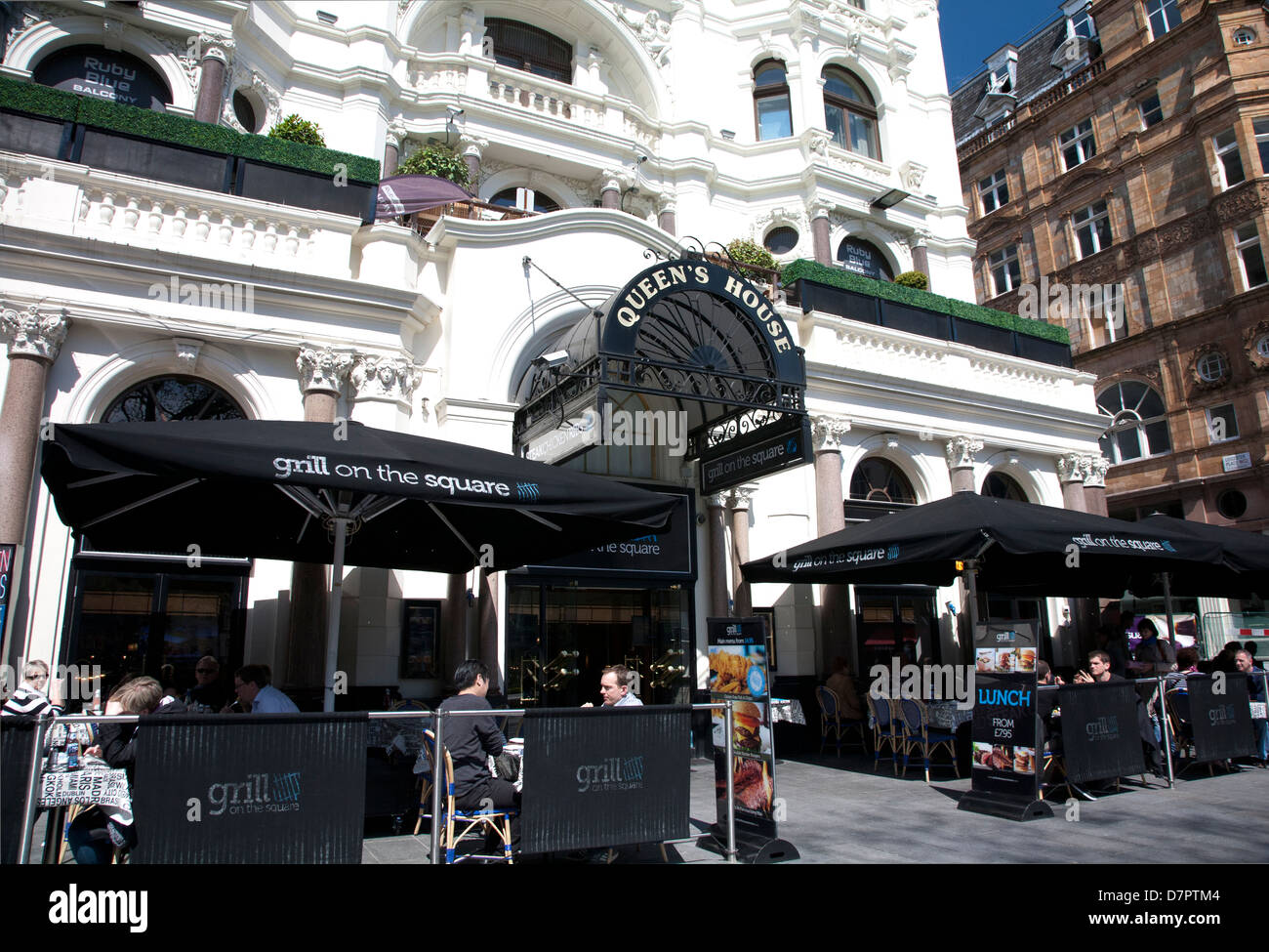 Restaurant on Leicester Square, West End, London, England, United Kingdom - Stock Image